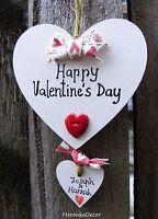 Happy Valentine's Day -Personalised Handmade Hearts-Valentine's Day gift-7cm