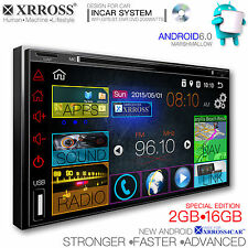 XRROSS Car DVD radio audio Player GPS Navigation Android 6.0 WIFI Double Din