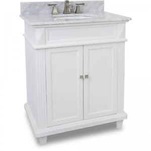 """30"""" Vanity with Marble top & bowl Preinstalled by Hardware Resources"""