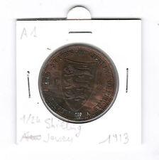 1/24 shilling 1913 Jersey George V piece de monnaie ancienne Royaume Uni