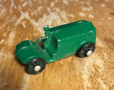Vintage Antique 1930s 1940s Green Cast Metal Toy Tractor Truck JAPAN w/ Driver