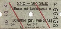 B.R.B. Ultimatic Ticket - Elstree & Borehamwood to London St. Pancras