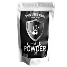Hand Armor Powder Chalk 8 Oz Powder Resealable Bag Gym Weight Lifting Climbing!