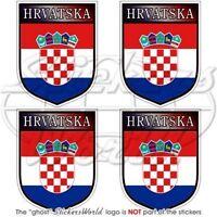 KROATIEN Schild HRVATSKA Kroatische 50mm Auto Aufkleber x4 Vinyl Stickers Decals