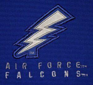 Mens EUC Blue NIKE DRI FIT Air Force FALCONS Team Issued L/S Training Shirt XL
