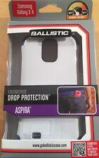 "New SAMSUNG GALAXY S4 BALLISTIC ""ASPIRA"" Drop Protection Cover Case White Blue"