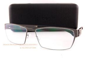 Brand New ic! berlin Eyeglass Frames Sanetsch 2.0 Graphite/Black For Men Women
