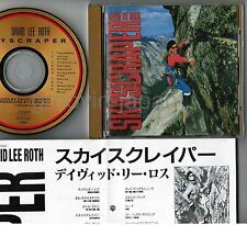 DAVID LEE ROTH Skyscraper JAPAN 24k GOLD CD 43XD-2002 w/PS VAN HALEN, STEVE VAI