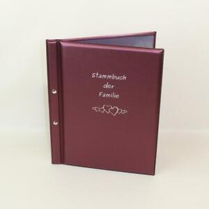 VIOLA - Stammbuch der Familie A4 mit Schraubensteg *xintra dauphine* ~Hochzeit~