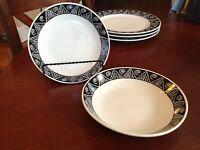 Set of 2 MAJESTICWARE SHADOW BY ONEIDA STONEWARE COUPE CEREAL/SOUP Bowls
