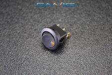 Round Rocker Switch 34 Hole 16 Amp 12v 3 Pin Orange Led Toggle Ibrrso