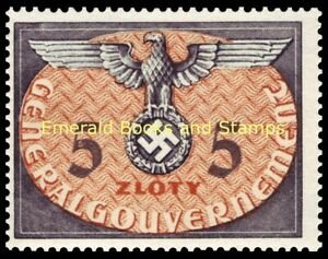 EBS Generalgouvernement 1940 Occupied Poland - Official - Dienst - Mi. 15 MNH**