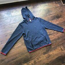 Prince & Fox Mens Large Hoodie Grey Navy Red