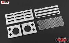 Toy d90 110 in Alluminio Griglia Frontale & faro circonda Argento rc4wd z-s1654 RC