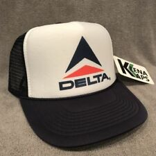 Delta Airlines Trucker Hat Vintage Style Vacation Snapback Cap Navy Blue 2271