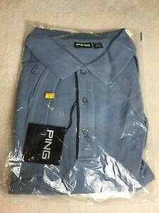 Ping Collection Golf Polo Shirt Dusk Blue 97% Cotton 3%Spandex Mens Sz 4XL NEW