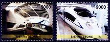 Sierra leone MNH 2v, China Railways, Train, Speed locomotives