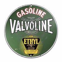 Vintage Design Sign Metal Decor Gas and Oil Sign - Valvoline Ethyl Gasoline Comp