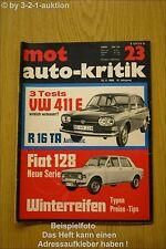 MOT 23/69 VW 411 E R 16 TA  Fiat 128 Autobianchi A 112