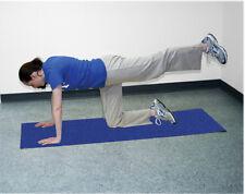 "CanDo Premium yoga mat, blue, 68"" x 24"" x 1/4 inch, eco-friendly 30-2401B NEW"