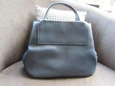Carpisa Italian Navy Faux Leather Zipped 2 Compartment Bag with Hardware Trim