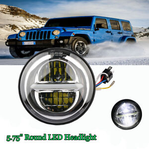 5.75'' Universal 50W Projector DRL Round LED Hi/Lo Beam Headlight E9 For Harley