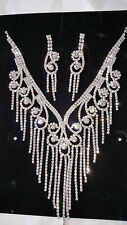 Diamante set - Diamante Necklace & earrings set wedding prom set 32