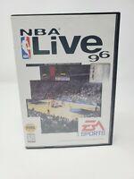 NBA Live 96 (Sega Genesis, 1995) CIB complete