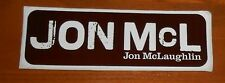 Jon McLaughlin Bumper Sticker 2-Sided Original 2007 Promo 6x2