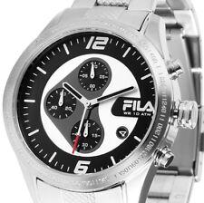Herren Armbanduhr Chronograph Silber/Schwarz Edelstahlarmband von FILA UVP 289,-