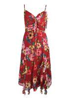 karen millen red midi ruffle dress uk 8  ebay