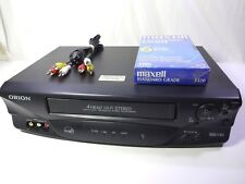 ORION Hi-Fi Stereo 4 Head VHS VCR VR5006 - w/ AV Cable & Sealed Tape - Tested