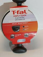 T-Fal simply cook  non stick  With Glass Lid, 5 qt Capacity