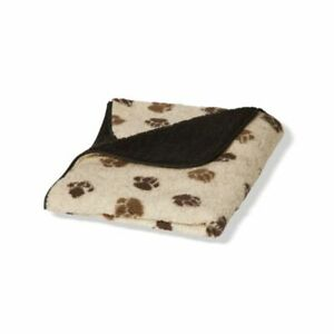 Fleece Paw Beige/brown Fleece Blanket 3 Sizes Small Medium or Large