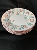 "Churchill England Briar Rose Salad Plates, 7 7/8"", Set Of 6"