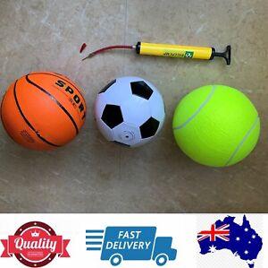 Basketball, Soccer Ball, Giant Tennis ball, Ball Pump, Special, AU stock