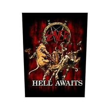 OFFICIAL LICENSED - SLAYER - HELL AWAITS BACK PATCH METAL