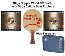 Table Tennis Bat: Stiga Clipper Wood CR Blade Plus 2 Sheets of Calibra Spin 2 mm