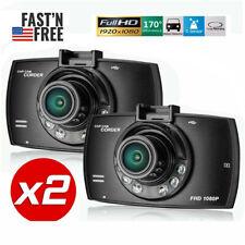 "2Pack 2.4"" Dash Cam 1080p Car Truck Dvr Dashboard Camera Recorder Night Vision B"