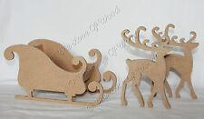Pié 3D Trineo & Reno Navidad Craft forma de madera de 2 Mdf