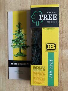 Vintage Britains make-up plastic tree models -Fir Tree Cat No.1809