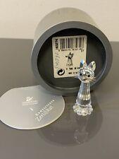 Vintage Swarovski Silver Crystal Cat Kitten A 7606 Nr 000 003 W Box & Coa