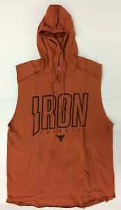 Under Armour Mens UA Project Rock Iron Paradise Sleeveless Hoodie Dwayne Johnson