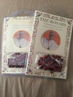 The Rosary Book &  ROSE SCENTED ROSARY blessed by POPE FRANCIS