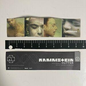 RAMMSTEIN Mutter Original 2001 CD/LP RELEASE STICKER industrial german