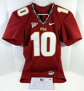 Florida State Seminoles #10 Game Issued Red Jersey QB Cut 42 924
