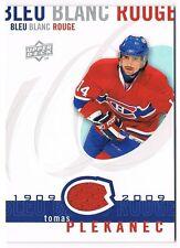 2008-09 Upper Deck Montreal Canadiens Centennial Jersey #LBBR-TP Tomas Plekanec