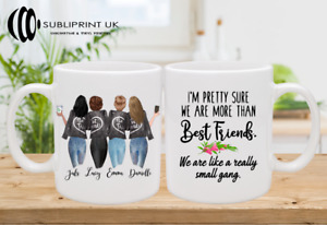 Best Friend / Sister / Cousin / Colleague Personalised Custom Mug - Four Person
