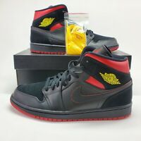"NEW Nike Air Jordan 1 Retro Mid ""Last Shot"" nyc Mens 13 Black Chicago 554724-076"