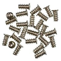 Pack of 25 5x10mm Silver PC Fan Screws - Computer Case Chassis 80mm/120mm